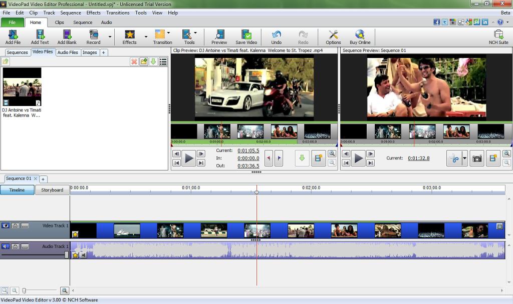 télecharger un logiciel de montage vidéo comme VideoPad